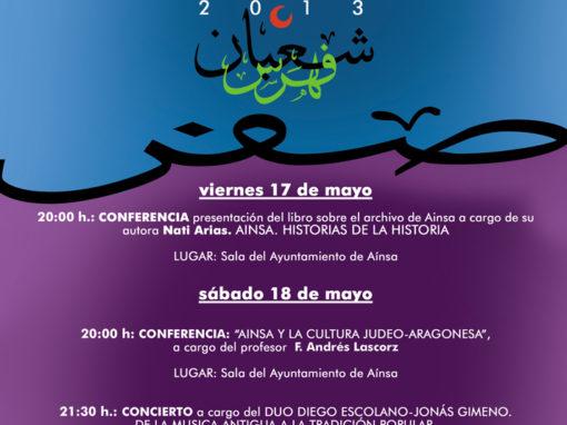JORNADAS CULTURALES DE LA MORISMA , DIAS 17 Y 18 DE MAYO DEL 2013