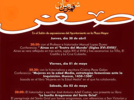 JORNADAS CULTURALES, DÍAS 30 DE ABRIL, 1 Y 2 DE MAYO